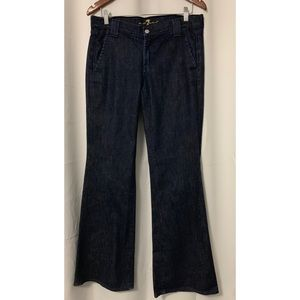 7 For All Mankind 7FAM Dark Wash Wide Leg Jeans 30